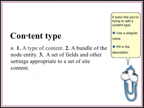 A session slide defining Content Type