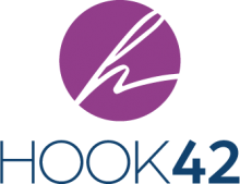 hook42 logo with a purple circle